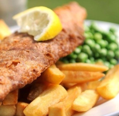 Thursford restaurant fish and chips